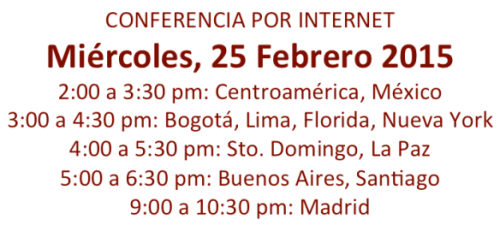 fecha y horas Seminario Virtual